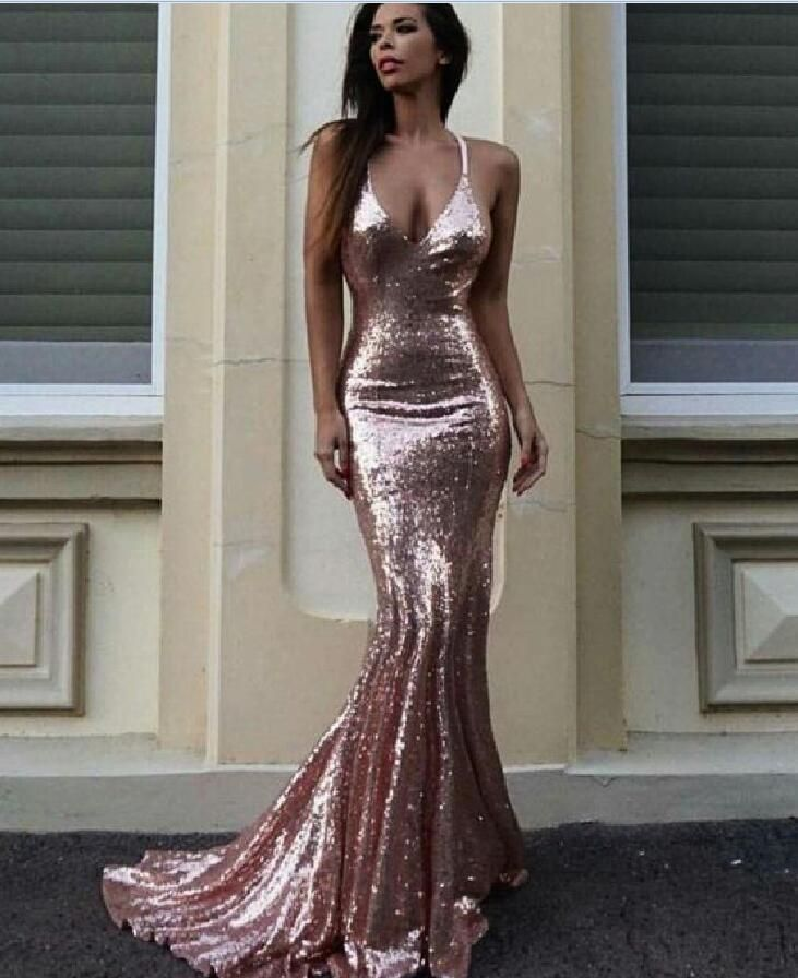 e1d65050 Sexy Off Shoulder Mermaid Prom Dress Rose Gold Sequin Prom Party Gowns Plus  Size Evening Dress .Wome on Luulla