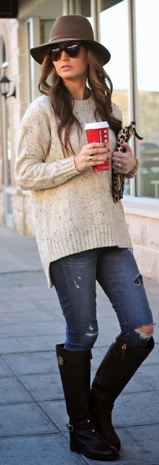 Beige Cozy Sweater by For All Things Lovely