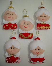 Coisinhas da Renata: Mamãe Noel em Feltro...