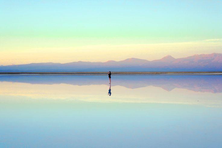 The tranquil salt flats of San Pedro de Atacama, Chile