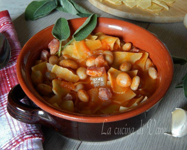 Maltagliati con fagioli patate e pancetta