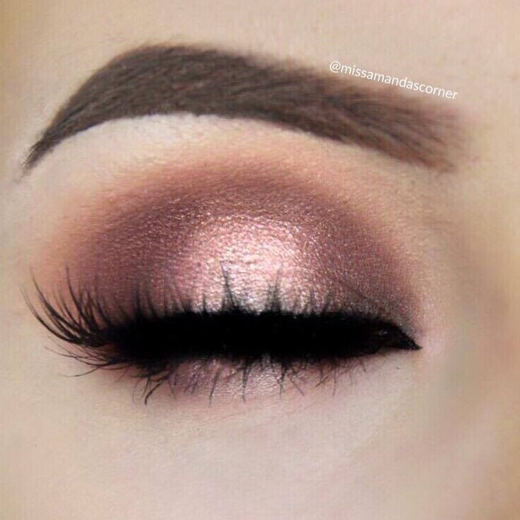 Halo eyeshadow with pinks- use as inspiration. Halo can be done with any colors! Neutral to bold to glam... use your imagination.