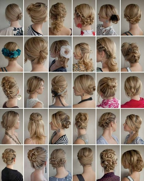 Different hairstyles for bridesmaids; planning for different two weddings (Matron of Honor).
