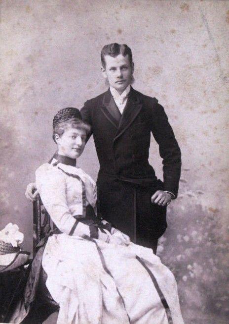 "Archduchess Margarethe Klementine of Austria and fiance, Albert, 8th prince von Thurn und Taxis. 1890 Margarethe was daughter of Clotilde of Saxe Coburg and Gotha and Albert, of Helene in Bayern, ""Nene"", eldest sister of Kaiserin Elisabeth of Austria aka ""Sissi""."