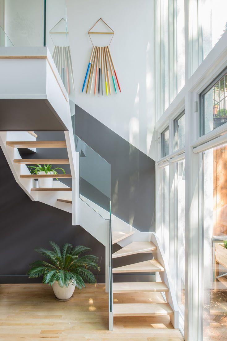 Jessica Helgerson Interior Design staircase glass facade