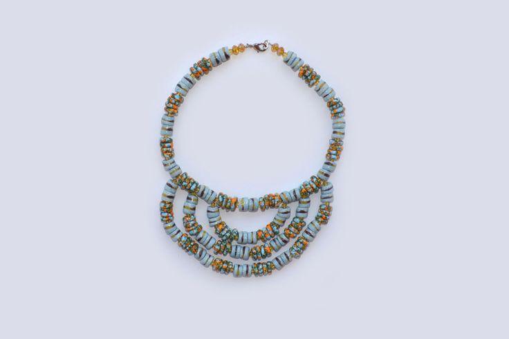 Ghana beaded neckpiece