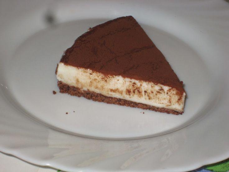 27 giugno 2016 - Cheese cake al cacao con base di pan di stelle
