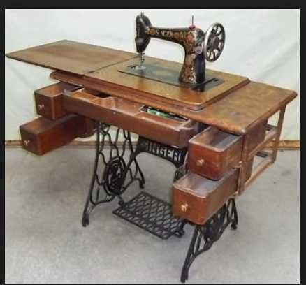 Treadle. Mamaw created patterns from pictures of dresses I wanted and sewed them. She was very talented. She'd had 10 children. She had to be.
