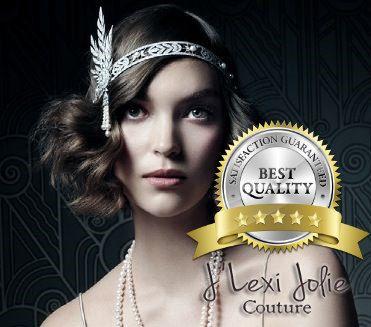 Grand Gatsby bandeau, serre-tête Flapper, rugissant postiche mariage la…