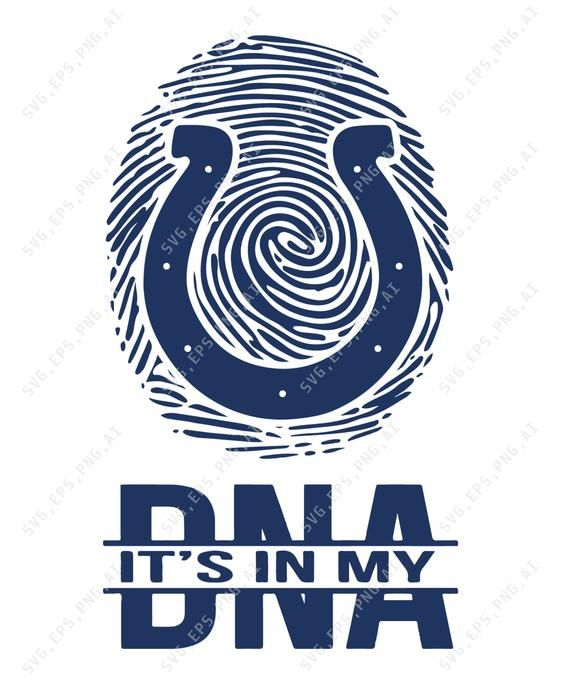 Indianapolis Colts It S In My Dna In Svg Pdf Nfl Logo Nfl