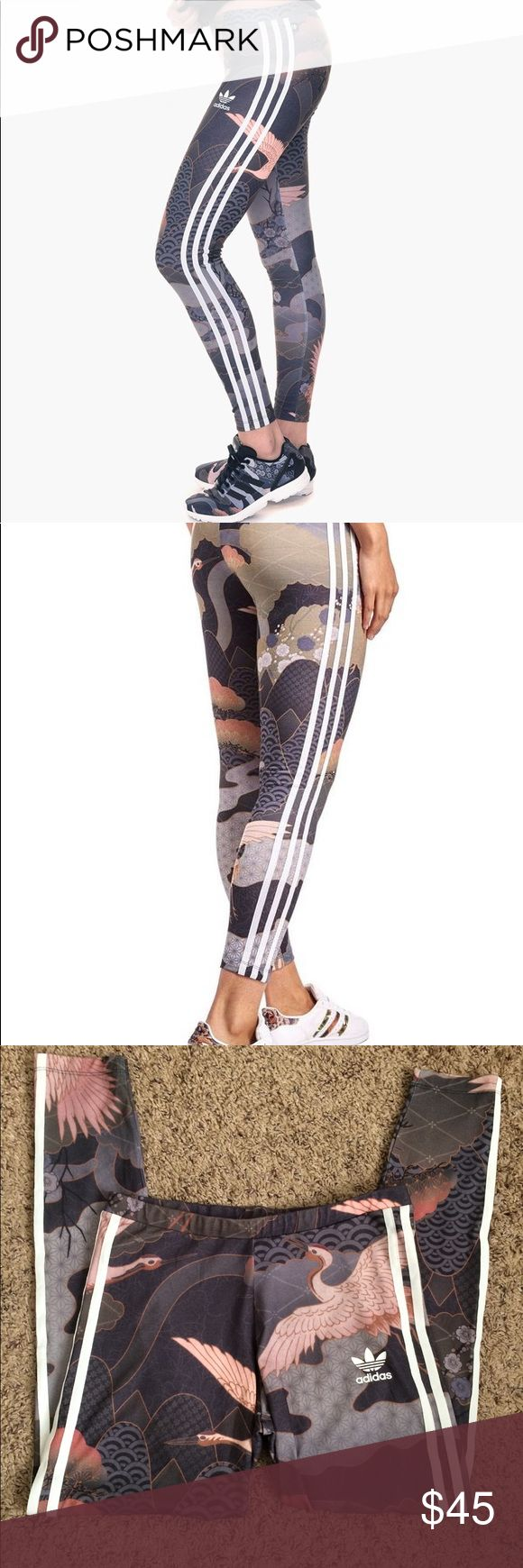 Adidas Originals Kimono Print Rita Ora Leggings From the Adidas Originals Rita Ora Line Circa 2016. Limited Edition! No longer available in stores! Comes from smoke free and pet free home Adidas by Rita Ora Pants Leggings