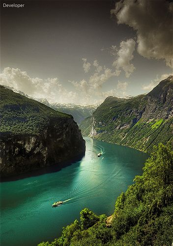 Norway - Geiranger Fjord by Faisal!, via Flickr