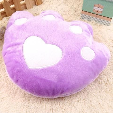 Soft Stuffed Bear Paw Pillow - Color Change Asst. Colors