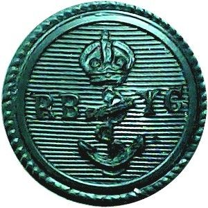 Royal Bermuda Yacht Club 17mm – Black with King's Crown. Plastic Yacht or Boat Club jacket button