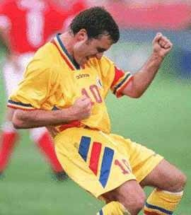 """Gheorghe Hagi was one of the best attacking midfielders in Europe during the 1980s and 1990s and is considered the greatest Romanian footballer of all time. Galatasaray fans called him 'Commandante' and the Romanians called him 'Regele' (The King).    Nicknamed """"The Maradona of the Carpathians"""", he is considered a hero in his homeland. He has won his country's """"Player of the Year"""" award six times, and is regarded as one of the best football players of the 20th century.    via Wikipedia"""
