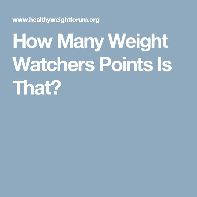 How Many Weight Watchers Points Is That?