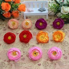 Малый чай бутон розы цветок голову гирлянды из роз шелк цветок DIY аксессуары ручной работы материала орнамент с цветами моделирования цветов