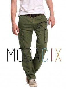 Erkek Yeşil Kargo Pantolon