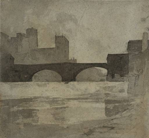 John Sell Cotman Durham circa 1805 Watercolour and drawing on paper support: 235 x 254 mm