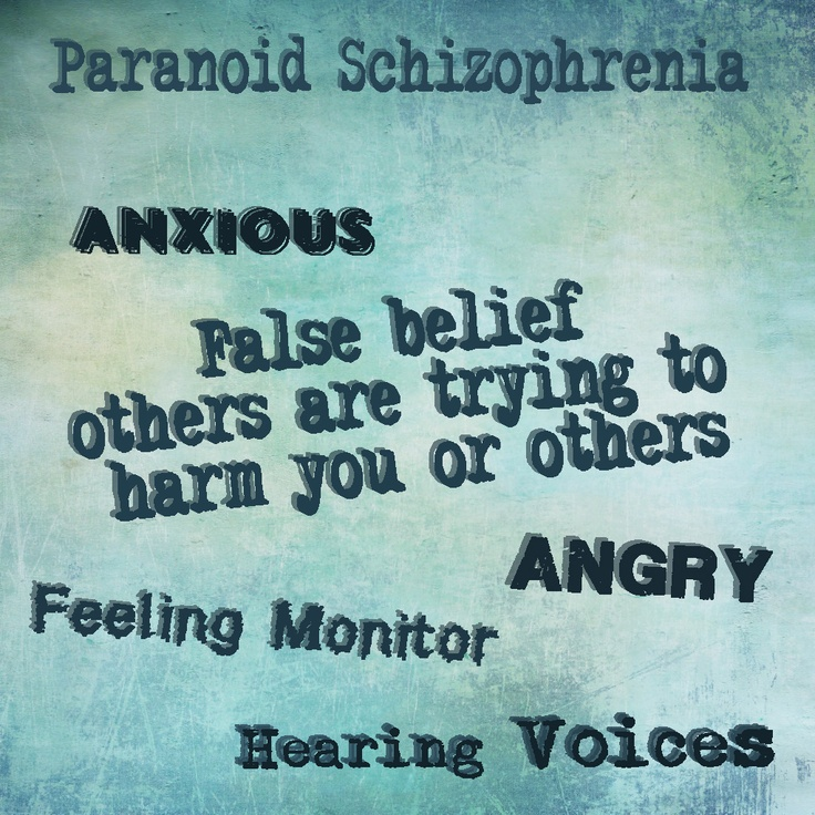 Paranoid #Schizophrenia