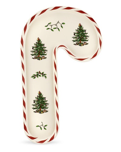 """Spode """"Christmas Tree Peppermint"""" 12in Tray"""