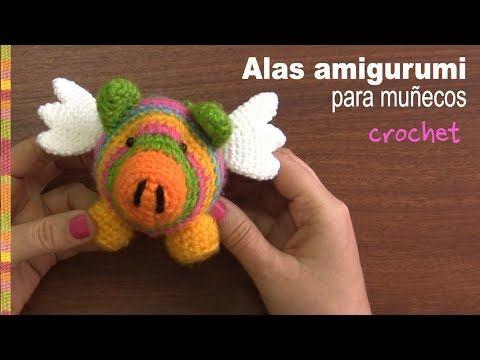 Alas amigurumi para muñecos (crochet) - Tejiendo Perú - YouTube
