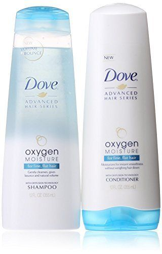 Dove Advanced Hair Series Oxygen Moisture 12 OZ Shampoo  12 OZ Conditioner for Fine Flat Hair * Learn more by visiting the image link.Note:It is affiliate link to Amazon.