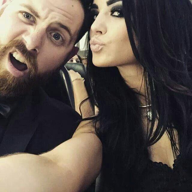 WWE Diva Paige (Saraya-Jade Bevis) and her boyfriend Kevin Skaff