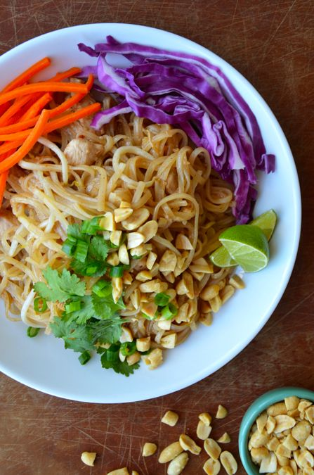 Easy Pad Thai with Chicken from justataste.com | #chicken