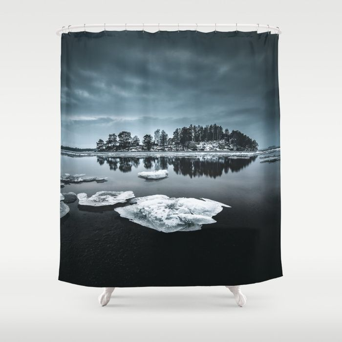 Only pieces left Shower Curtain by HappyMelvin. #naturephotography #winter #ice #fineart #photography #showercurtain #homedecor