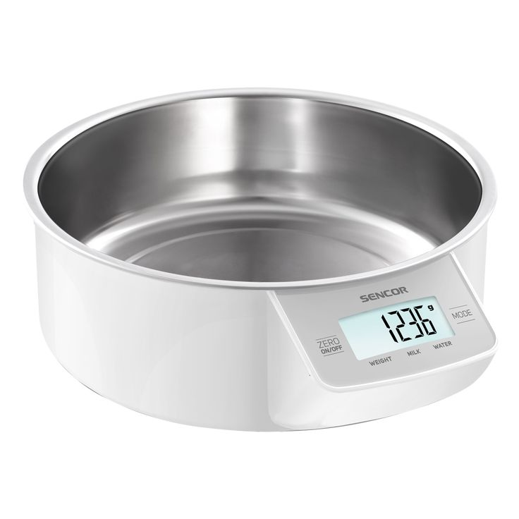 Sencor Kitchen Scale SKS 4030WH - Touch control sensors - Zeroing function for weight of container - 4 sensors for higher weighing accuracy