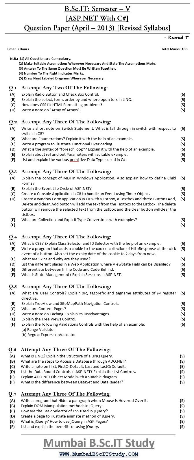 ,april-2015 question paper ,bscit question papers ,bscit semester - v question paper ,mumbai bscit study ,old question paper ,question papers ,revised syllabus ,asp.net with c# ,mumbai university questions paper ,may - 2017