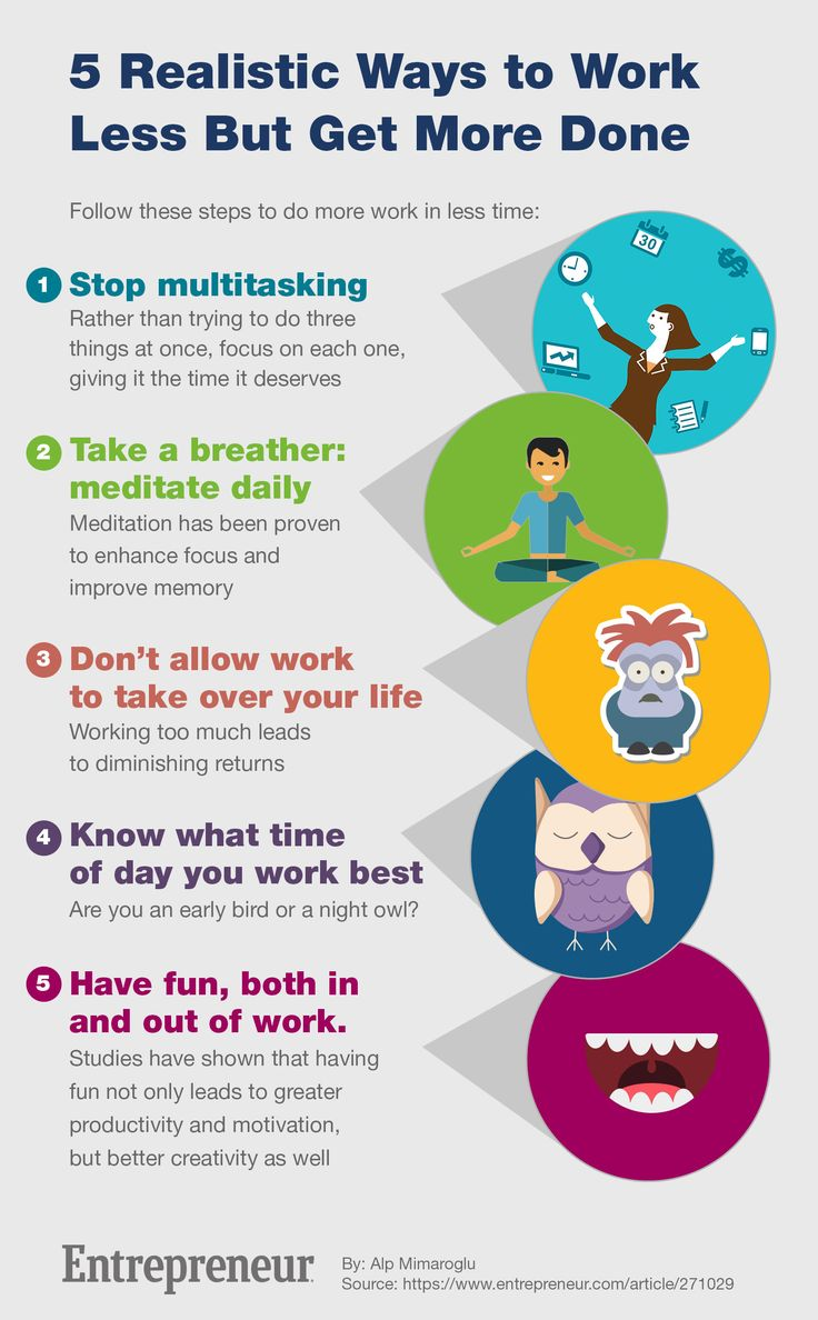 5 Realistic Ways to Work Less But Get More Done