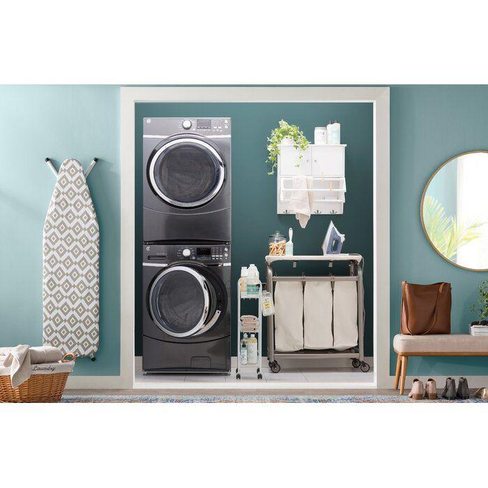Slimline 3 Shelf Laundry Cart Laundry Room Storage Small Laundry Room Organization Laundry Sorter Hamper