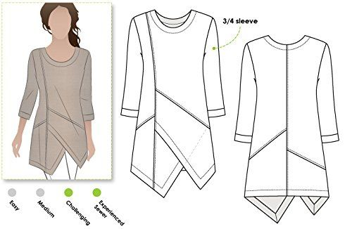 Style Arc Sewing Pattern - Lani Woven Tunic (Sizes 18-30) - Click for Other Sizes Available Style Arc http://www.amazon.com/dp/B015MA6DRQ/ref=cm_sw_r_pi_dp_GgRTwb1ACV571