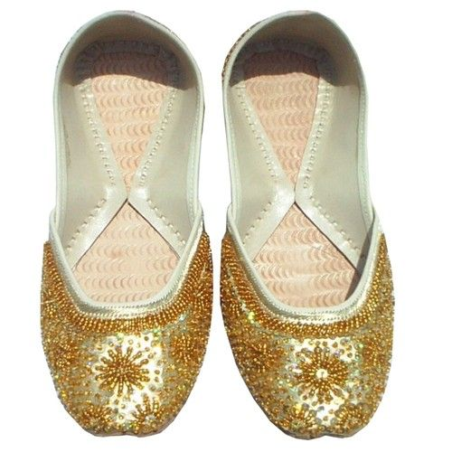 Indian Bridal Shoes Indian Wedding Shoes Women'S Khussa Flat Shoes