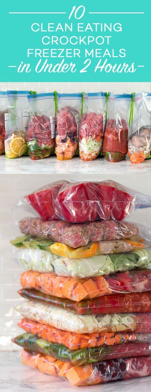"10 ""Clean Eating"" Crockpot Freezer Meals in Less Than 2 Hours 
