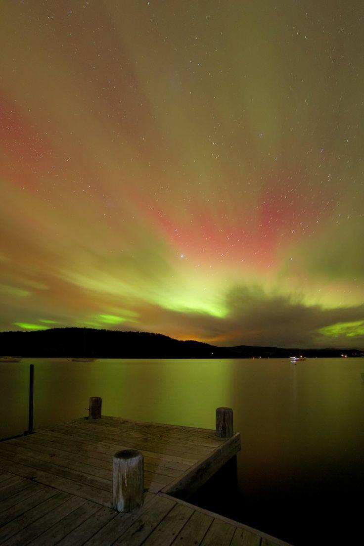 #Southern Lights /Taken south of Hoabrt, Tasmania.