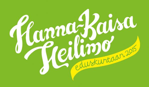 Hand-drawn type and graphic design for parliamentary election campaign