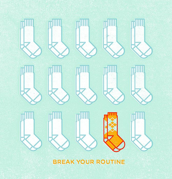 Breaking Routine Poster