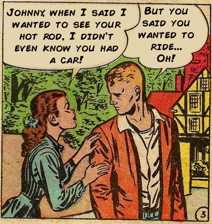 Hot rod comic book panels comic panels vintage comics