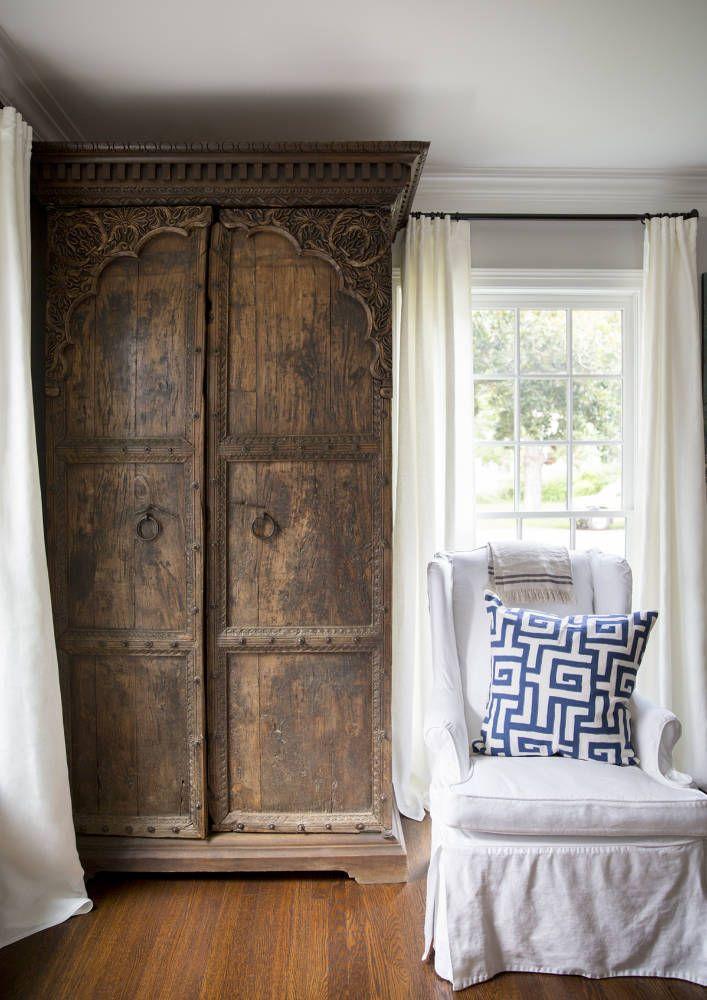 ::antique cedar armoire