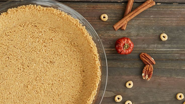 Fresh strawberry slices topped on Rice Chex® cereal crust for an easy pie recipe – a perfect dessert treat.