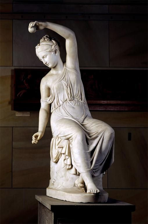Rudolf Schadow Woman Spinning Sculpture 1816 Marble