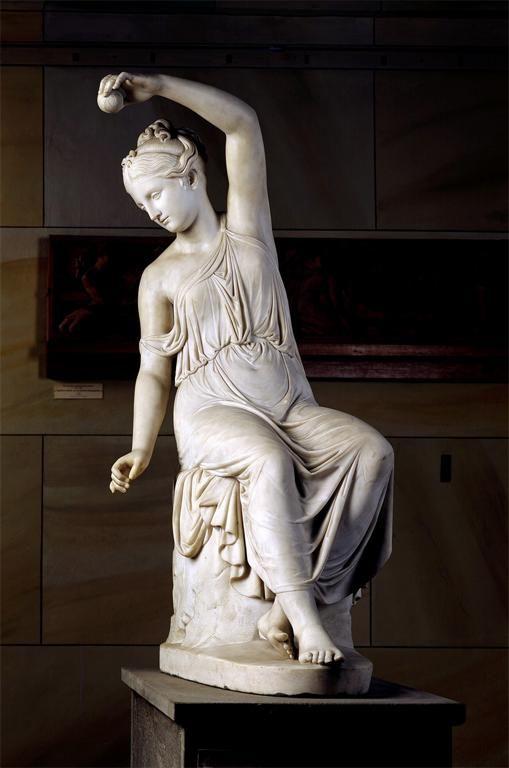 Rudolf Schadow Woman Spinning Sculpture 1816 Marble