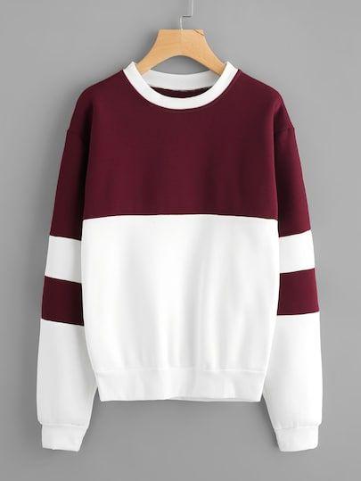 ef5230fc0a07 Shop Color Block Sweatshirt online. SheIn offers Color Block Sweatshirt &  more to fit your fashionable needs.