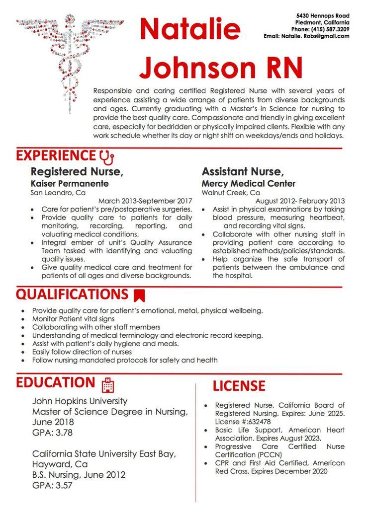 Nursing CV/Resume Word Template2 Vista Resume Resume