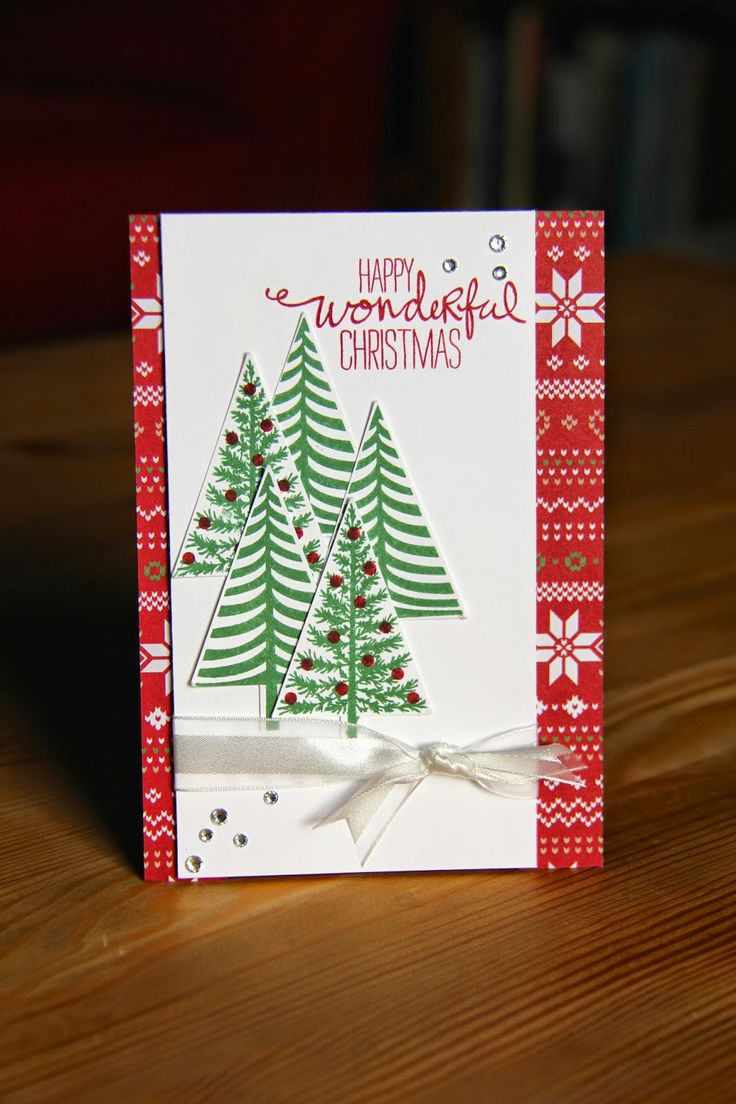 Stampin Up Christmas Card Festival of Trees