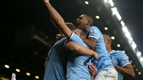 Blowing United away. City 3 - 0 United at Old Trafford. 25/03/2014