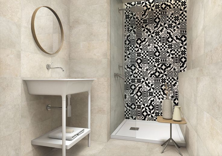 Wall decor & floor tile design bring you to feel the simplicity modern and enjoyable of life.  (OLG600GB + HP304)